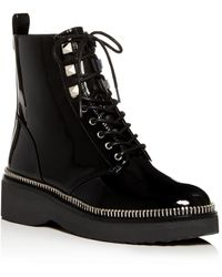 MICHAEL Michael Kors Women's Haskell Platform Combat Boots - Black