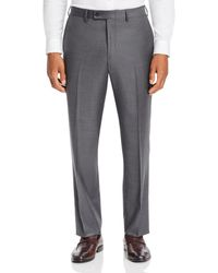 Bloomingdale's Sharkskin Classic Fit Dress Pants - Gray