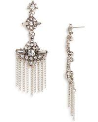 Aqua - Rosalie Statement Earrings - Lyst