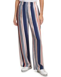 DKNY Striped Pull On Trousers - Blue
