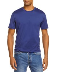 Bloomingdale's The Store At Bloomingdale's Pima Cotton Crewneck Tee - Blue