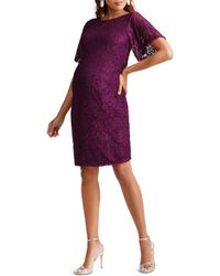 Ingrid & Isabel - Maternity Flutter-sleeve Lace Cocktail Dress - Lyst