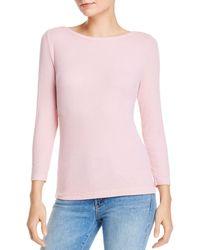 Dolan Boat Neck Ribbed T - Shirt - Pink