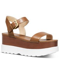 MICHAEL Michael Kors Women's Marlon Strappy Flatform Sandals - Brown