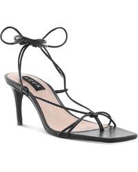 Aqua Women's Dirlene High - Heel Strappy Sandals - Black