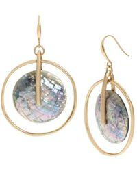 Robert Lee Morris Mosaic Orbital Drop Earrings - Metallic