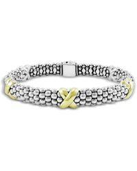 Lagos - Caviar Gold & Silver X-station Bracelet - Lyst