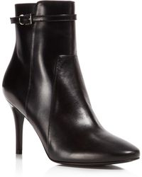 Charles David - Prism Leather High Heel Booties - Lyst
