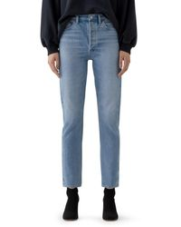 Agolde Remy High - Rise Straight Organic - Cotton Stretch Jeans In Collision - Blue