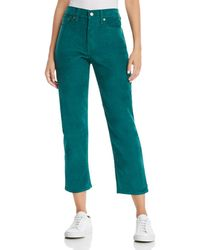 Levi's - Wedgie Straight Corduroy Jeans In Evergreen - Lyst