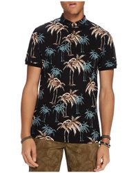 Scotch & Soda - Palm Print Polo Shirt - Lyst
