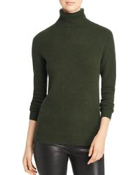 C By Bloomingdale's Cashmere Turtleneck Sweater - Green
