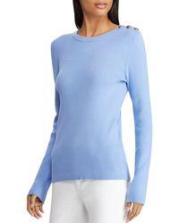 e1e1a9b9465b0 Lyst - Ralph Lauren Lauren Plus Chambray Off The Shoulder Top in Blue
