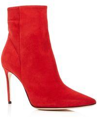 Brian Atwood - Women's Vida Suede High-heel Booties - Lyst