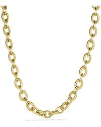 David Yurman - Large Oval Link Necklace In Gold - Lyst
