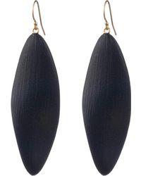 Alexis Bittar Long Leaf Earrings - Black