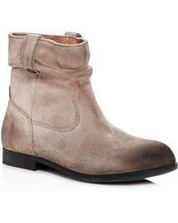 Birkenstock | Women's Sarnia Nubuck Leather Slouchy Booties | Lyst