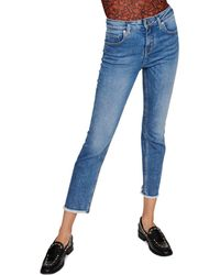 Maje Pachab High - Rise Straight - Leg Jeans In Blue