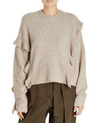 3.1 Phillip Lim Lofty Ruffle Sweater - Brown
