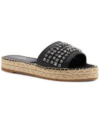 Botkier - Women's Julie Leather Espadrille Slide Sandals - Lyst
