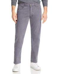 Bloomingdale's Classic Fit Corduroy Trousers - Blue