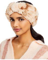 Surell Faux Fur Stretch Knit Headband - Natural