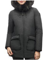 Nobis Faux Fur Trim Down Parka - Black
