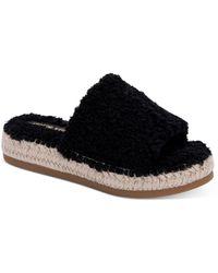 Dolce Vita Karlee Slip On Espadrille Sandals - Black