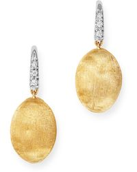 Marco Bicego 18k Yellow Gold Siviglia Diamond Drop Earrings - Metallic