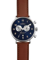 Shinola The Canfield Chronograph Watch - Brown