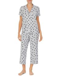 Kate Spade Polka Dot Capri Pyjama Set - Grey