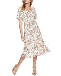 1.STATE Ikat Bouquet Midi Wrap Dress - Multicolour