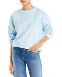 Aqua Tie Dyed Sweatshirt - Blue