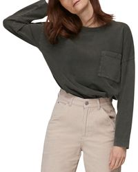 Whistles Relaxed Pocket Tee - Black