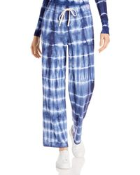 Sundry Tie Dyed Wide Leg Joggers - Blue