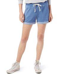 Alternative Apparel French Terry Drawstring Shorts - Blue