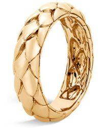 John Hardy - 18k Yellow Gold Legends Cobra Band Ring - Lyst