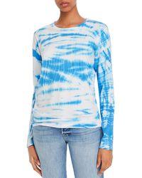 Just Female Annika Tie - Dye Long - Sleeve T - Shirt - Blue