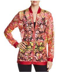 T Tahari - Gale Floral-lace Zip Jacket - Lyst