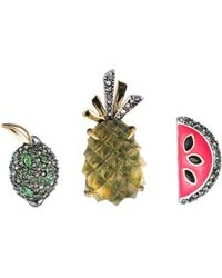 Alexis Bittar Fruit Pin Set You Might Also Like - Multicolor