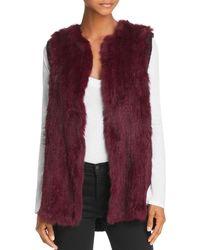 525 America - Knit-back Real Rabbit Fur Vest - Lyst