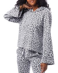Alternative Apparel Eco Teddy Animal Print Hoodie - White