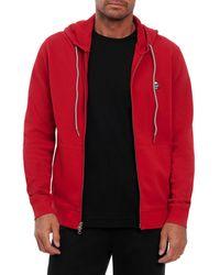 Robert Graham Skull Classic Fit Zip Front Hoodie - Red