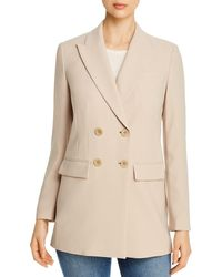 Elie Tahari Aster Double - Breasted Jacket - Natural