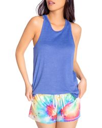 Pj Salvage Stardust Rainbow Tie - Dye Shorts - Blue
