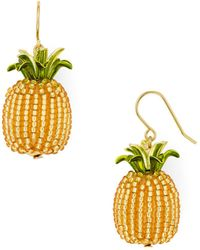 Kate Spade - Beaded Pineapple Drop Earrings - Lyst