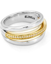 Bloomingdale's Marc & Marcella Diamond Ring In Sterling Silver & 14k Gold - Plated Sterling Silver - Metallic
