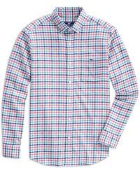 Vineyard Vines Tucker Plaid Shirt - Blue