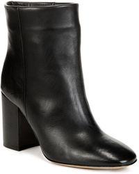 Vince - Women's Felton Leather Block Heel Booties - Lyst