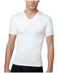 Spanx - Cotton Compression V-neck Tee - Lyst